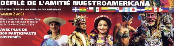 Défilé - montage - dépliant de la 24e édition du festival Présence autochtone